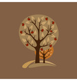 Greeting card with apple-trees vector image