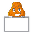 grinning with board hard shell character cartoon vector image vector image