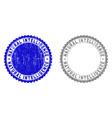 grunge natural intelligence scratched stamp seals vector image vector image