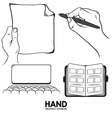 hand drawing pack vector image vector image
