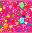 happy birthday greeting multicolor pattern vector image vector image
