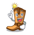 have an idea leather cowboy boots shape cartoon vector image vector image