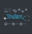 healthy today ideas concept with stethoscope vector image vector image
