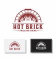 hot brick oven pizzeria vector image