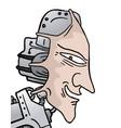 human robot vector image