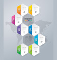 infographics design with 8 options vector image vector image