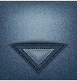 jeans triangle pocket vector image vector image