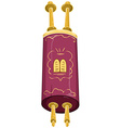 Jewish Golden Closed Torah Holy Bible vector image vector image