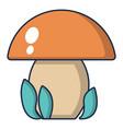 kids toy mushroom icon cartoon style vector image