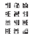 Lifts and elevators icon set vector image vector image