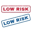 Low Risk Rubber Stamps vector image vector image