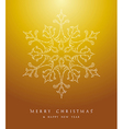 Luxury Merry Christmas snowflake background EPS10 vector image vector image