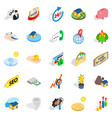meeting icons set isometric style vector image vector image