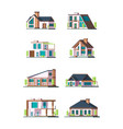 modern cottages villa new living home residence vector image vector image