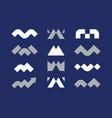 modern professional set logos m geometric in blue vector image vector image