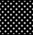 monochrome floral geometric seamless pattern vector image vector image