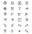 Navigation Line Icons 2 vector image vector image