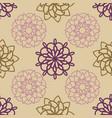 ornamental mandala seamless pattern vector image vector image