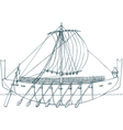 Phoenician ship vector image vector image