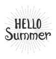 phrase hello summer vector image vector image