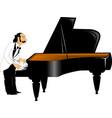 pianist vector image vector image