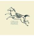 Retro circus horse vector image