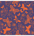 Romantic butterfly seamless pattern vector image vector image