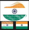 Scratched flag of India vector image