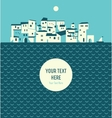seashore town vector image vector image