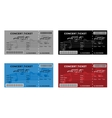 Set of Colorful Concert Tickets with Musical Notes vector image vector image