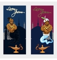 Set of oriental tale banners vector image vector image