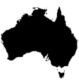 Silhouette map of Australia vector image vector image