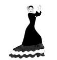 spanish flamenco dancer woman playing palms vector image vector image