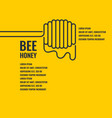 stylish and modern background for bee products vector image vector image