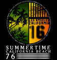 summer tee graphic design california vector image vector image
