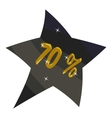 Tag star seventy percent discount icon vector image