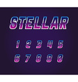 Universe Pulsar 80s Retro Sci-Fi Font Numbers Set vector image vector image