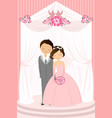 wedding celebration vector image