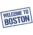 welcome to boston stamp vector image vector image