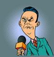 wrinkled nasty bad reporter correspondent vector image vector image