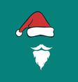 Santa hats and beards vector image