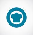 chef hat icon bold blue circle border vector image