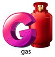 A letter G for gas vector image vector image