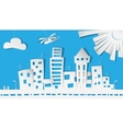 Abstract Paper City in vector image vector image