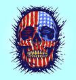 american flag skull gold dental vector image