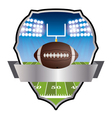 American Football Field and Field Goal Emblem vector image vector image