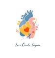 anatomical heart modern print design art work vector image vector image