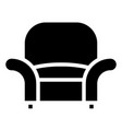 armchair icon with glyph style eps10 vector image vector image