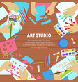 art studio banner template with space for text vector image vector image