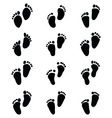 baby feet vector image vector image